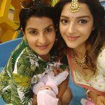 Mehrene Kaur Pirzada, friends, selfie, cute, kavacham