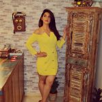 Mehrene Kaur Pirzada, glamour, yellow dress, telugu