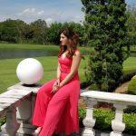 Mehrene Kaur Pirzada, photoshoot, red dress, telugu actress