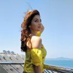 Mehrene Kaur Pirzada, tour, vacation, sea, super