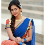 Nabha Natesh, Adhugo Actress, half saree, jasmine