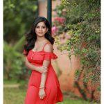 Nabha Natesh, Adhugo Actress, red dress, lovable