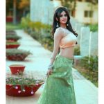 Nabha Natesh, Glamorous Photo Shoot, green dress, romantic