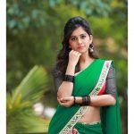 Nabha Natesh, Glamorous Photo Shoot, green saree, hip show