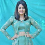 Nandita Swetha, Akshara Heroine, blue dress