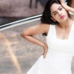 Nandita Swetha, Akshara Heroine, white dress