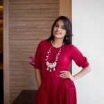 Nandita Swetha, My Name Is Kirataka Actress, red dress