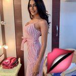 Nikki Tamboli, Dharma Prabu Actress, pink dress, cute