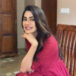 Nikki Tamboli, Dharma Prabu Actress, red dress, gorgeous