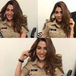 Nikki Tamboli, police dress