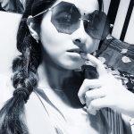Priya Bhavani Shankar, selfie, black & white, saree