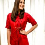Raashi Khanna, red dress, wallpaper, hd, smile