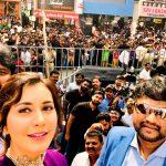 Raashi Khanna, selfie, fans, inauguration, pink