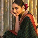 Ragini Dwivedi, Amma Actress, green saree