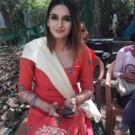 Ragini Dwivedi, Amma Actress, red chudi