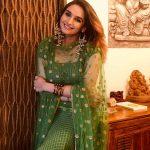 Ragini Dwivedi, I don't know Heroine, green dress, smile