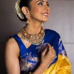 Rakul Preet Singh, saree, shy, wallpaper, hd