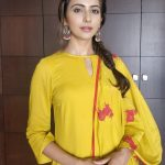 Rakul Preet Singh, yellow dress, hd, cute, wallpaper