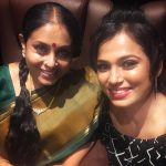 Ramya Pandiyan, Saranya Ponvannan, selfie, tamil actresses
