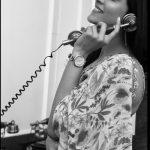 Regina Cassandra, phone, black and white, hd, actress