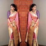 Regina Cassandra, saree, creative, traditional look