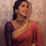 Regina Cassandra, saree, hd, traditioanl dress