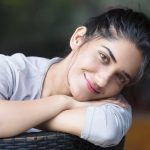 Ruhani Sharma, lying, smile
