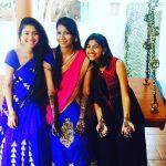 Sai Pallavi, pooja kannan, friends, saree