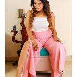 Sakshi Agarwal, Jeyikkira Kuthira Actress, pink pant
