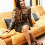 Sakshi Agarwal, black dress, pretty