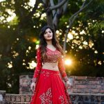 Sanchita Shetty, cover picture, red dress, photo shoot
