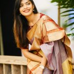 Sanchita Shetty, hair style, smile, saree, party
