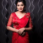Sanchita Shetty, instagram, photoshoot, saree, red saree