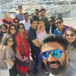 Shanthanu Bhagyaraj, family, selfie, vacation, wife