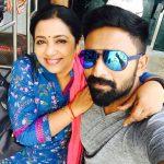 Shanthanu Bhagyaraj, mom, poorima, selfie