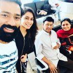Shanthanu Bhagyaraj, selfie family, mom, wife, kiki vjay