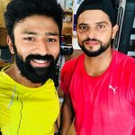Shanthanu, Suresh Raina, raina, cricket player