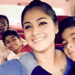 Simran, family, selfie, mom