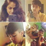 Simran, instagram, collage, son, hindi