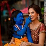 Simran, mom, son, smile, actress
