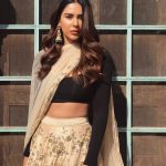 Sonam Bajwa, Glamour Photo Shoot, saree, hip show