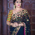 Sreemukhi, Babu Baga Busy Actress, black saree, stunning