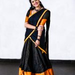 Sreemukhi, black saree, attractive