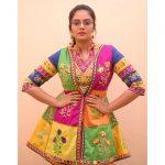 Sreemukhi, colourful coustume