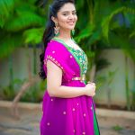 Sreemukhi, pink sall, favorable