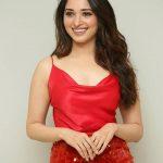 Tamannaah Bhatia, instagram, red dress, hd, cute