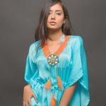 Twinkle Meena, blue dress, modern