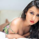 Twinkle Meena, lying, red lipsstick