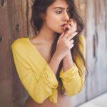 Twinkle Meena, yellow dress, seductive