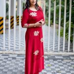 Varalaxmi Sarathkumar, red dress, large size, tamil actress
